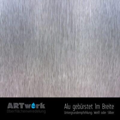 ARTwork, Wassertransferdruck, Folie Alu gebürstet, 1m Breite
