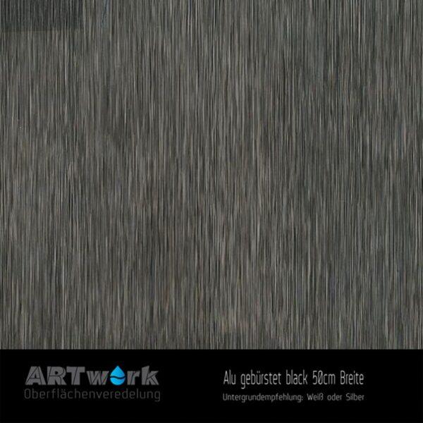 ARTwork, Wassertransferdruck, Folie Alu gebürstet, 50cm Breite