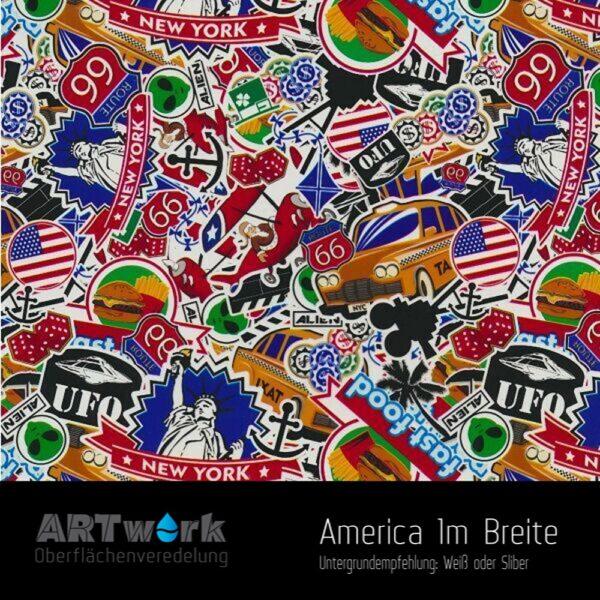 ARTwork, Wassertransferdruck, Folie America, 1m Breite