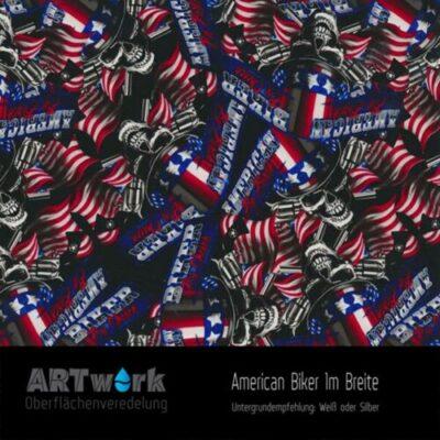 ARTwork, Wassertransferdruck, Folie American Biker, 1m Breite