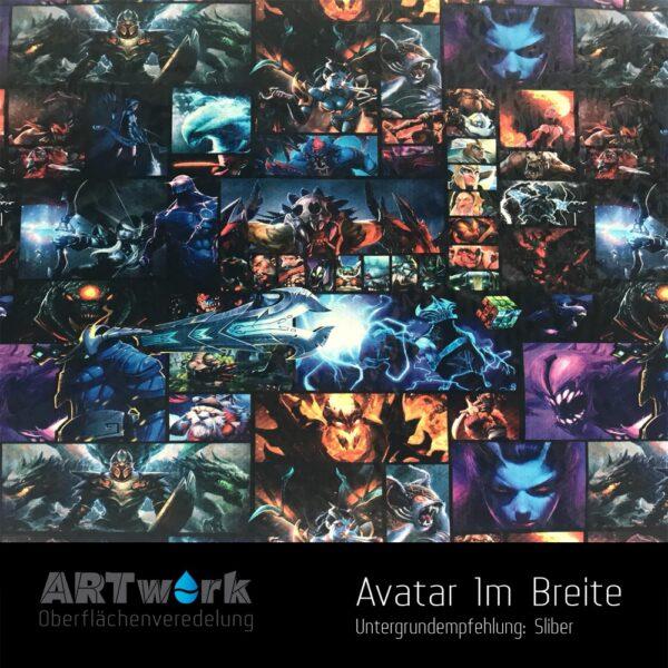 ARTwork, Wassertransferdruck, Folie Avatar, 1m Breite