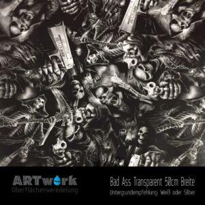 ARTwork, Wassertransferdruck, Folie Bad Ass, 50cm Breite