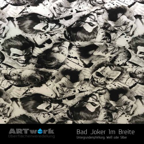 ARTwork, Wassertransferdruck, Folie Bad Joker, 1m Breite