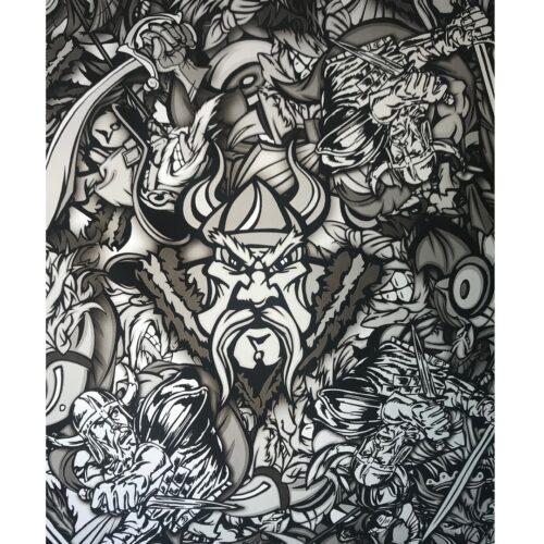 ARTwork, Wassertransferdruck, Folie BadGuys, 50cm Breite