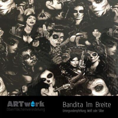 ARTwork, Wassertransferdruck, Folie Bandita, 1m Breite