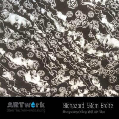 ARTwork, Wassertransferdruck, Folie Biohazard, 50cm Breite