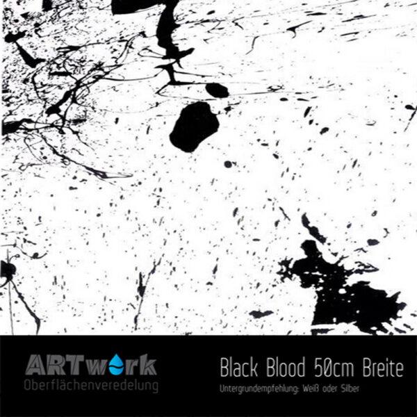 ARTwork, Wassertransferdruck, Folie Black Blood, 50cm Breite