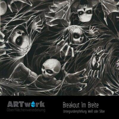 ARTwork, Wassertransferdruck, Folie Blackout, 1m Breite