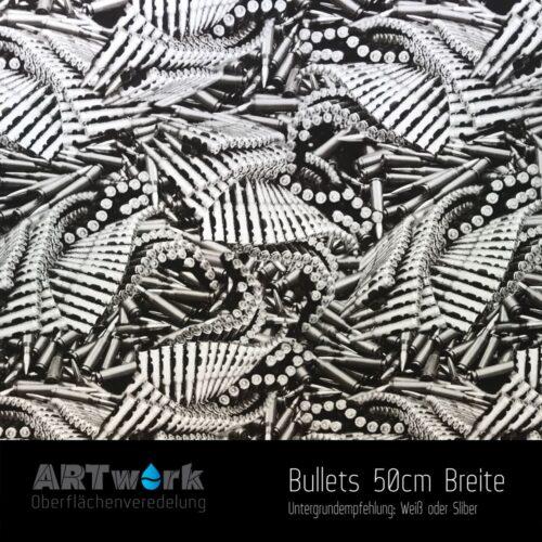 ARTwork, Wassertransferdruck, Folie Bullets, 50cm Breite