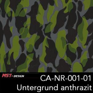 MST-Design, Wassertransferdruck, Camouflage, Folie CA-NR-001-01, Untergrund anthrazit