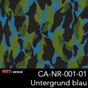 MST-Design, Wassertransferdruck, Camouflage, Folie CA-NR-001-01, Untergrund blau