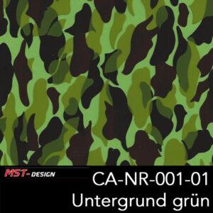 MST-Design, Wassertransferdruck, Camouflage, Folie CA-NR-001-01, Untergrund grün
