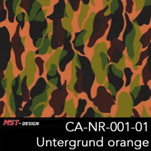 MST-Design, Wassertransferdruck, Camouflage, Folie CA-NR-001-01, Untergrund orange