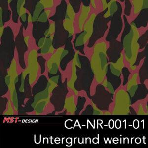 MST-Design, Wassertransferdruck, Camouflage, Folie CA-NR-001-01, Untergrund weinrot