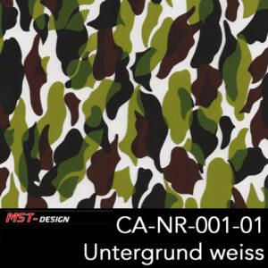 MST-Design, Wassertransferdruck, Camouflage, Folie CA-NR-001-01, Untergrund weiß