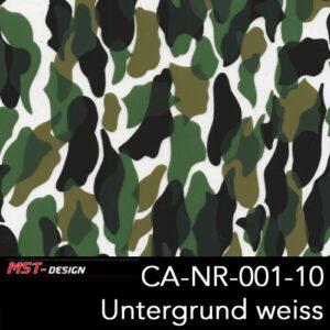 MST-Design, Wassertransferdruck, Camouflage, Folie CA-NR-001-10, Untergrund weiß