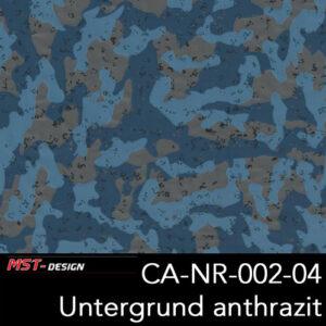 MST-Design, Wassertransferdruck, Camouflage, Folie CA-NR-002-04, Untergrund anthrazit