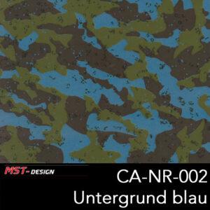MST-Design, Wassertransferdruck, Camouflage, Folie CA-NR-002, Untergrund blau