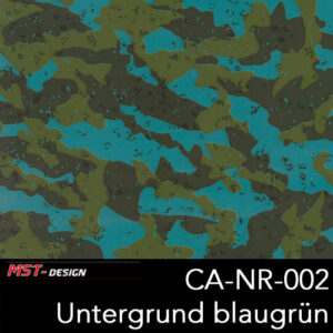 MST-Design, Wassertransferdruck, Camouflage, Folie CA-NR-002, Untergrund blaugrün