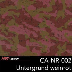 MST-Design, Wassertransferdruck, Camouflage, Folie CA-NR-002, Untergrund weinrot