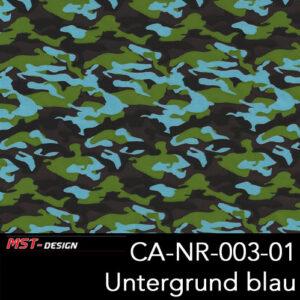MST-Design, Wassertransferdruck, Army Style, Folie CA-NR-003-01, Untergrund blau