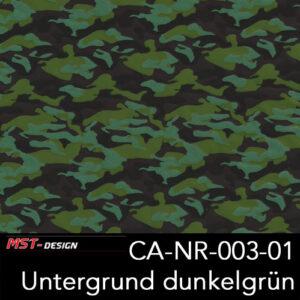 MST-Design, Wassertransferdruck, Army Style, Folie CA-NR-003-01, Untergrund dunkelgrün