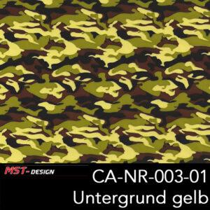 MST-Design, Wassertransferdruck, Army Style, Folie CA-NR-003-01, Untergrund gelb