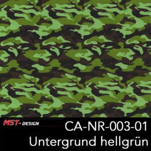 MST-Design, Wassertransferdruck, Army Style, Folie CA-NR-003-01, Untergrund hellgrün