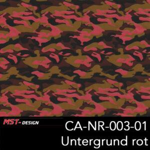 MST-Design, Wassertransferdruck, Army Style, Folie CA-NR-003-01, Untergrund rot