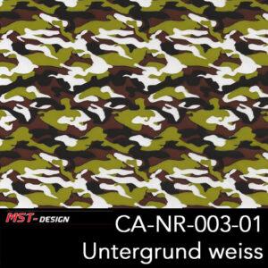 MST-Design, Wassertransferdruck, Army Style, Folie CA-NR-003-01, Untergrund weiß