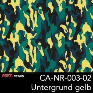 MST-Design, Wassertransferdruck, Army Style, Folie CA-NR-003-02, Untergrund gelb