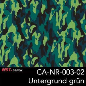 MST-Design, Wassertransferdruck, Army Style, Folie CA-NR-003-02, Untergrund grün