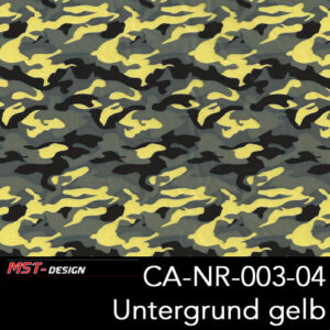 MST-Design, Wassertransferdruck, Army Style, Folie CA-NR-003-04, Untergrund gelb
