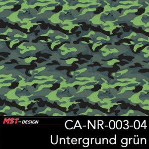 MST-Design, Wassertransferdruck, Army Style, Folie CA-NR-003-04, Untergrund grün