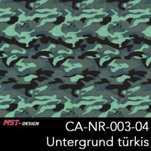 MST-Design, Wassertransferdruck, Army Style, Folie CA-NR-003-04, Untergrund türkis