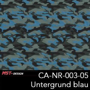 MST-Design, Wassertransferdruck, Army Style, Folie CA-NR-003-05, Untergrund blau