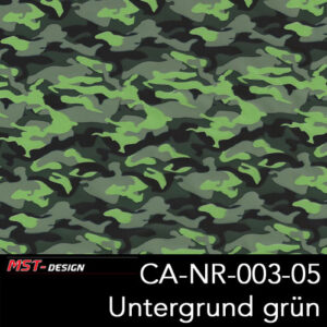 MST-Design, Wassertransferdruck, Army Style, Folie CA-NR-003-05, Untergrund grün