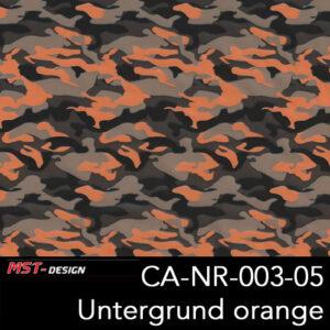 MST-Design, Wassertransferdruck, Army Style, Folie CA-NR-003-05, Untergrund orange