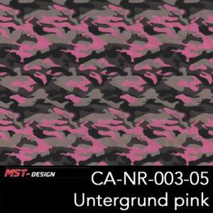 MST-Design, Wassertransferdruck, Army Style, Folie CA-NR-003-05, Untergrund pink