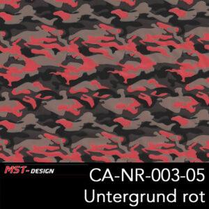 MST-Design, Wassertransferdruck, Army Style, Folie CA-NR-003, Untergrund rot
