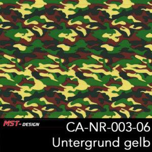 MST-Design, Wassertransferdruck, Army Style, Folie CA-NR-003-06, Untergrund gelb