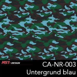 MST-Design, Wassertransferdruck, Army Style, Folie CA-NR-003, Untergrund blau