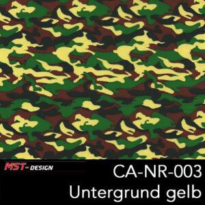 MST-Design, Wassertransferdruck, Army Style, Folie CA-NR-003, Untergrund gelb