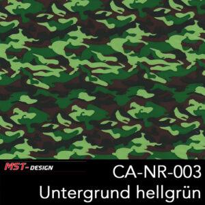 MST-Design, Wassertransferdruck, Army Style, Folie CA-NR-003, Untergrund hellgrün