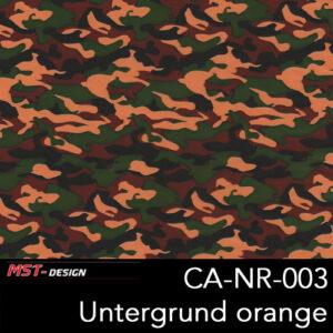 MST-Design, Wassertransferdruck, Army Style, Folie CA-NR-003, Untergrund orange