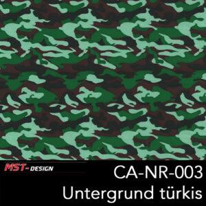 MST-Design, Wassertransferdruck, Army Style, Folie CA-NR-003, Untergrund türkis