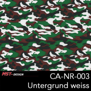 MST-Design, Wassertransferdruck, Army Style, Folie CA-NR-003, Untergrund weiß