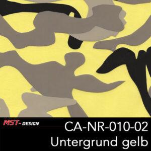 MST-Design, Wassertransferdruck, Army Style, Folie CA-NR-010-02, Untergrund gelb