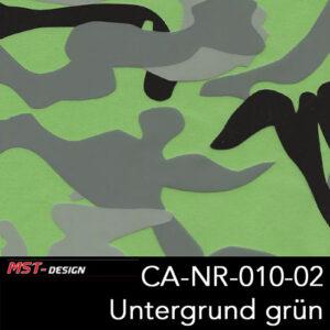 MST-Design, Wassertransferdruck, Army Style, Folie CA-NR-010-02, Untergrund grün