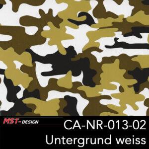 MST-Design, Wassertransferdruck, Camouflage, Folie CA-NR-013-02, Untergrund weiß